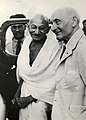 Frederick Pethick Lawrence with Mahatma Gandhi, 1946 (22967765972).jpg
