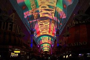 """Fremont Street - Fremont Street's illuminated """"Space Frame"""""""