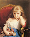 Fritz Zuber-Buhler Young Girl Holding a Doll.jpg