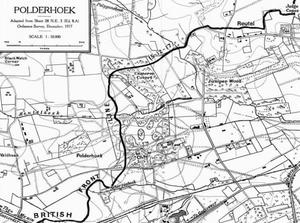 Action on the Polderhoek Spur - Image: Front line Menin road, Polderhoek, Reutel, 5 December 1917