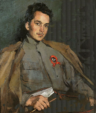Dmitry Furmanov - Portrait of Dmitriy Furmanov by Sergey Malyutin