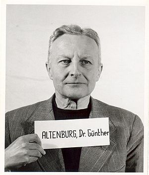 Günther Altenburg - Altenburg as a witness at the Nuremberg Trials