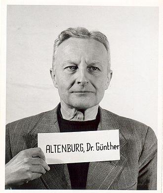 Günther Altenburg - Altenburg as a witness at the Nuremberg Trials