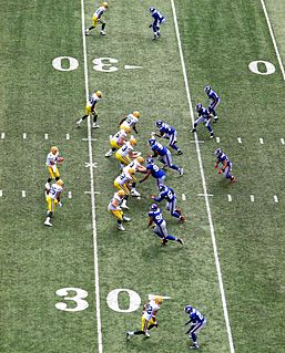 Shotgun formation American football offensive formation
