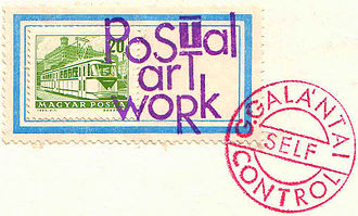 Mail art - Mail art by György Galántai, 1981