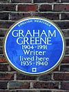 GRAHAM GREENE 1904-1991 Writer lived here 1935-1940.jpg