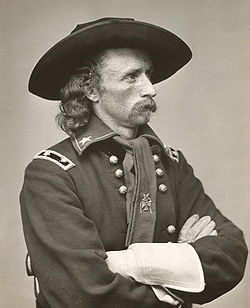 George Armstrong Custer, the United States Army cavalry commander at the Battle of the Little Bighorn.