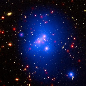 Galaxy cluster - Galaxy cluster IDCS J1426 is located 10 billion light-years from Earth and weighs almost 500 trillion suns.