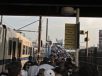 Game Day crowd at Hamburg Street station, August 2010.jpg