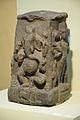 Ganesha on Face of Chaturmukha Linga - Black Stone - Circa 10th Century CE - Bihar - ACCN 3830 - Indian Museum - Kolkata 2015-09-26 3905.JPG