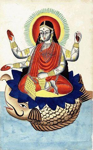 Makara (Hindu mythology) - Makara as the Vahana (vehicle) of the goddess Ganga