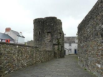 Carmarthen Castle - Old Police Station (Castle House) inside the castle walls