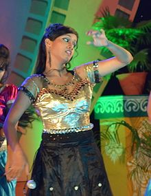 Gargi Mohanty performing at 2nd Odisha State Tele Awards (cropped).JPG