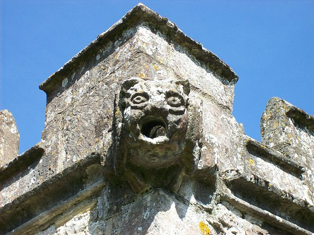 Gargoyle on the Church of St Mark in Mark, Somerset