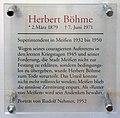 Gedenktafel Domplatz (Meißen) Herbert Böhme (Superintendent).jpg