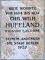 Gedenktafel Dorotheenstr 16 Christoph Wilhelm Hufeland.JPG