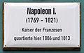 Gedenktafel Markt 22 (Wittenberg) Napoleon I.jpg