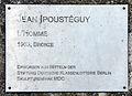 Gedenktafel Robert-Rössle-Str 10 (Buch) L'Homme&Jean Ipoustéguy&1963.jpg
