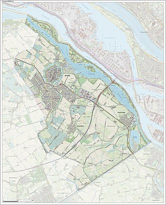 Brielle - Dutch Topographic map of Brielle, June 2015