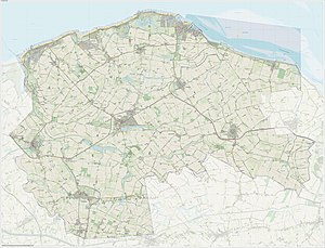 Sluis - Dutch Topographic map of Sluis, June 2015