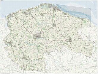 Sluis - Dutch Topographic map of Sluis, June 2015