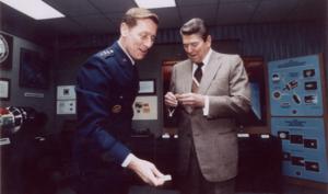 James A. Abrahamson - Image: Gen Abe & Reagan (SDI)