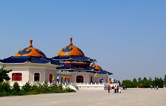 Mausoleum of Genghis Khan - A side view of the complex.