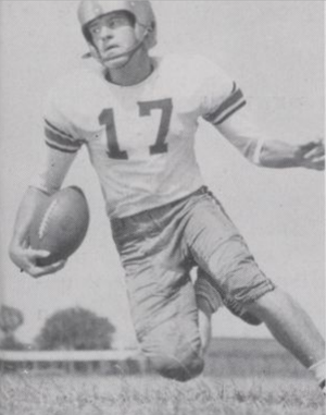 George Sims (American football) - Sims pictured c. 1949 at Baylor