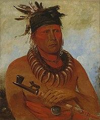 Háw-che-ke-súg-ga, He Who Kills the Osages, Chief of the Tribe