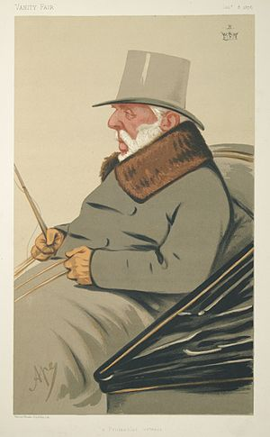 George Hay, 8th Marquess of Tweeddale - Caricature of George Hay, 8th Marquess of Tweeddale driving a coach