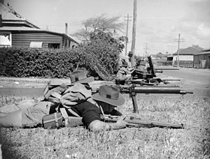 2nd Brigade (Australia) - In October 1942, Militia units from the 2nd and 4th Divisions took part in large-scale defensive exercise in Geraldton, Western Australia.