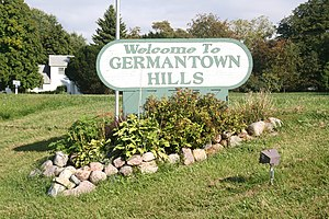 Germantown Hills, Illinois - Welcome sign on  Illinois Route 116