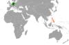 Lage von Deutschland und der Philippinen