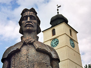 Gheorghe Lazăr - A memorial statue of Gheorghe Lazăr located in the Grand Square, Sibiu