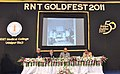 Ghulam Nabi Azad and the Union Minister for Road Transport and Highways, Dr. C.P. Joshi at the Golden Jubilee Meet of the Ravindra Nath Tagore Medical College, Udaipur in Rajasthan on December 25, 2011.jpg