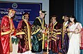 Ghulam Nabi Azad lighting the lamp at the Foundation Day Celebrations of the Post Graduate Institute of Medical Education & Research, Dr. RML Hospital, New Delhi.jpg