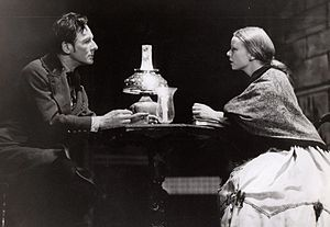 John Gielgud, roles and awards - Gielgud and Dolly Haas in Crime and Punishment, Broadway, 1947