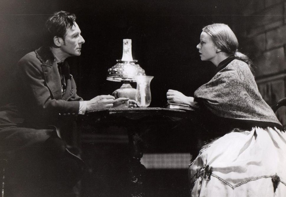 Gielgud and Haas in Crime and Punishment