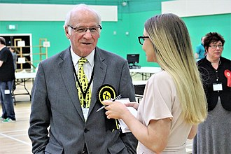 Gil Paterson - At the 2017 General Election in the West Dunbartonshire constituency, MSP Gil Paterson gave interviews to reporters about the result, including Maxine McArthur (pictured).