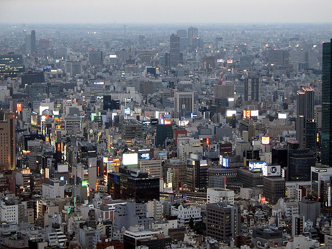Greater Tokyo Area, Japan, the world's most populated urban area, with about 38 million inhabitants