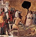 Giovanni Baronzio - Scenes from the Life of St Colomba - Beheading of St Colomba - WGA01305.jpg