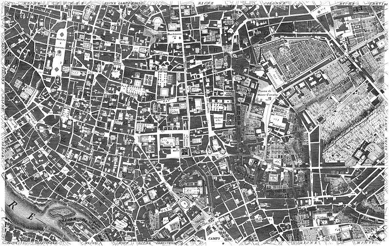 Giovanni Battista Nolli Nuova Pianta di Roma 1748