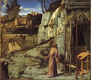 Frick Collection - Image: Giovanni Bellini St Francis in Ecstasy