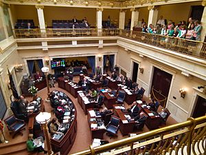 Utah State Senate - Image: Girl Scouts visit the Senate Chamber in the Utah State Capitol Feb. 2011