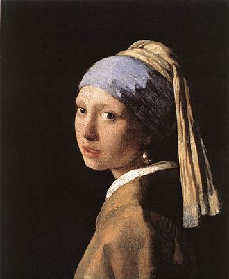 Pigment - Girl with a Pearl Earring by Johannes Vermeer (c. 1665).
