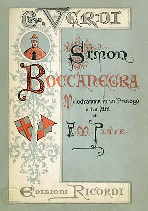 Simon Boccanegra - First edition libretto for the 1881 revision
