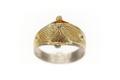 Gjuten och förgylld ring av silver - Skoklosters slott - 92282.tif