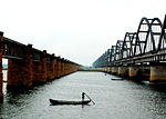 Godavari old and new bridges.jpg