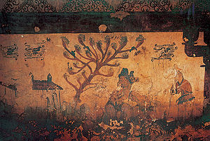Ssireum - Ssireum depicted on Goguryeo mural