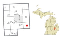 Location within Genesee County